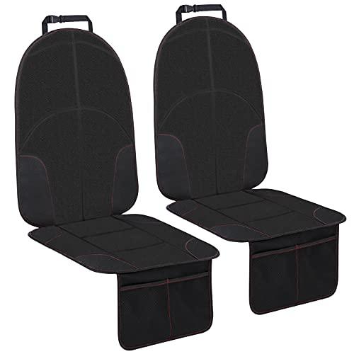YOOFOSS 2 Piezas Protectores de Asiento para Coche Impermeable Protector Seguro Asiento Infantil Fundas para sillas de Coche Desde Manchas y Daños