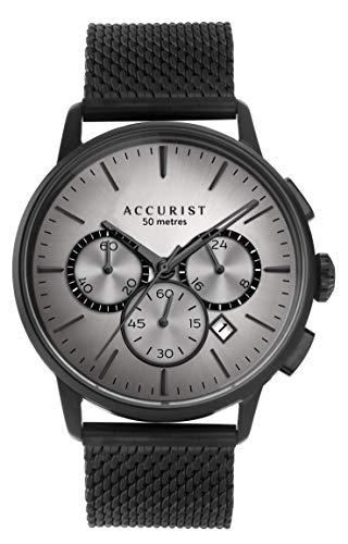 Accurist Watches Herren Analog Quarz Uhr mit Edelstahl Armband 7317