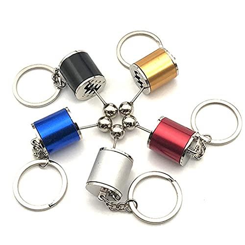 5 mini 6 velocidades caja de cambios llaveros, mochila cadena creativa accesorios de coche para regalos de cumpleaños familiares