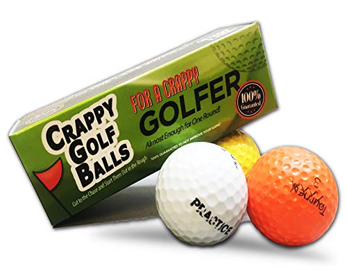 sports fan golf gift sets Crappy Golf Balls for a Crappy Golfer - Sleeve of Crappy Balls - Funny Gag Gifts for Golfers - Guaranteed Not to Improve Your Golf Game