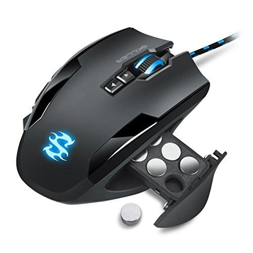 Sharkoon Skiller SGM1 Gaming Maus mit Makrotasten (10800 DPI, RGB-Beleuchtung, 12 Tasten, Weight-Tuning-System und Software) schwarz - 2