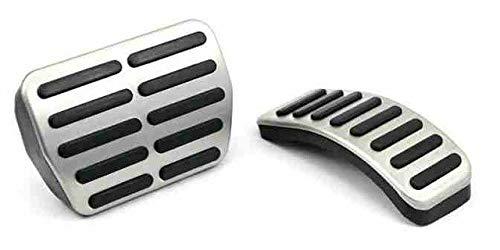 Cubierta de pedal de coche de acero inoxidable para Audi A3 para VW Polo 6N 9N 6R Jetta Mk4 para Skoda Fabia para Seat Ibiza 6K/6L/6J/pedal automático