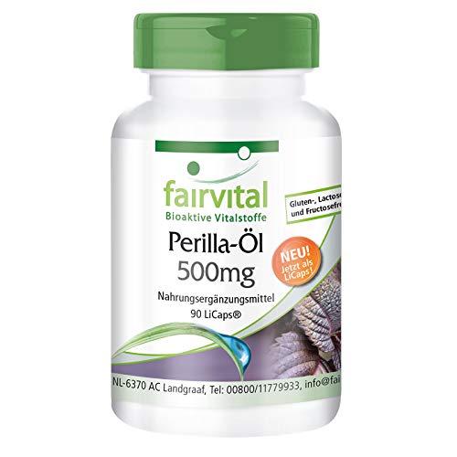 Olio di perilla 500mg - per 1 mese - VEGAN - alto dosaggio - 90 LiCaps® - ricco di acido alfa-linolenico