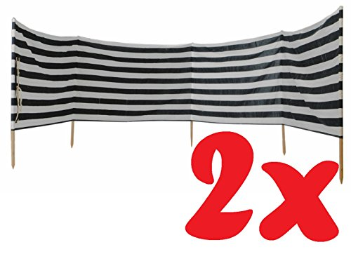 Idena Windschutz für Strand Camping und Garten, ca. 2x 8 m x 80 cm
