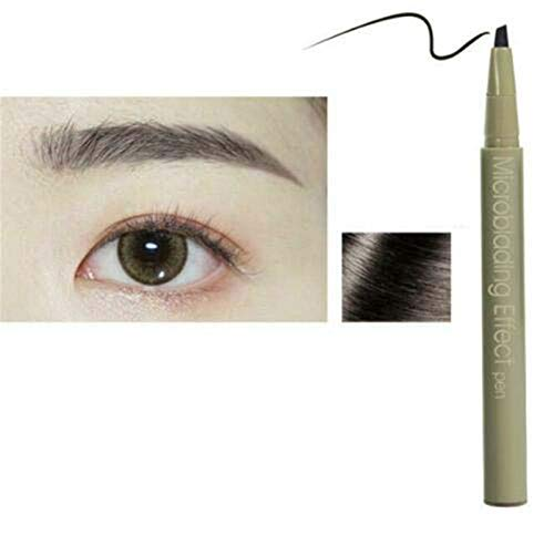 3D Eyebrow Tattoo Pen, Long Lasting Microblading Effect Eyebrow Pencil - Waterproof, Quick-drying and Easy to Remove, Creating Natural Looking Brows Effortlessly and Stays on All Day (Natural Gray)