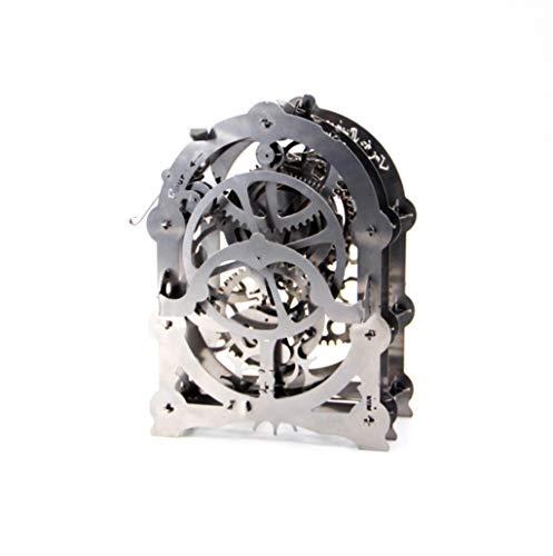 Getriebe mechanical transmission clock bewegliches 3D Metall Bausatz dreidimensionales Puzzle Metallmontagemodell Uhrwerks Kraft