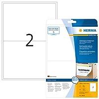 HERMA 10020リムーバブルラベルA4 199,6x143,5 mmホワイト可動/リムーバブルペーパーマット50個