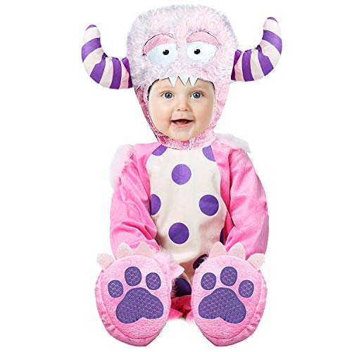 SHABIER Warm Outfit for Baby Girl Pink Elf Halloween Costume (90cm, Pink Monster)