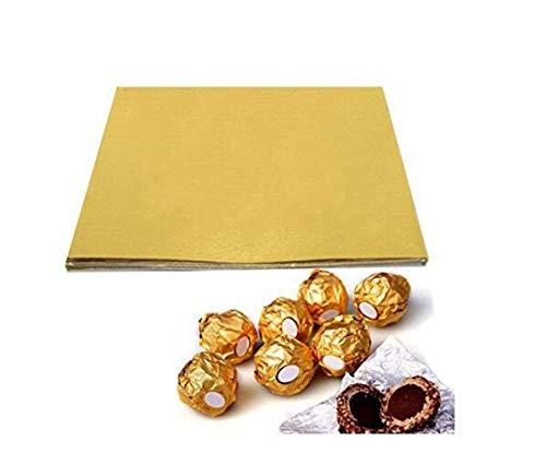 100pcs 4 Inch Chocolate Candy Wrappers Cuadrado Golden Aluminum Foil Papel Papel de Envoltura Papel de Envoltura de Azúcar Papel para DIY Candy Chocolate Embalaje o Decoración