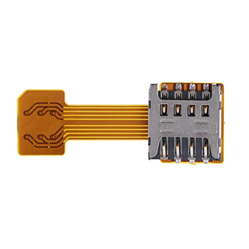 ZIRAN Hybrid Double Dual SIM Card Micro SD Adapter for Android Phone Extender Nano Mic