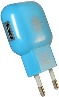 Bijoux bij-casa-usbbl miniladdare nät med USB 1 A och ljus LED, ljusblå