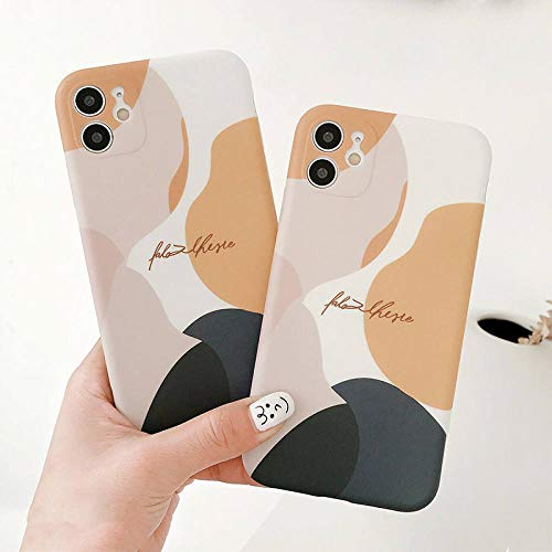 WGOUT Estuche para teléfono con ilustración de Estilo Coreano para iPhone 11 12 11Pro MAX XR XS MAX X 7 8 Plus 11 Pro Cubierta Trasera IMD Suave con patrón Lindo, para iPhone XS