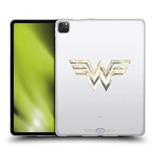 Official Wonder Woman 1984 Gold Logo Art Soft Gel Case Compatible for Apple iPad Pro 12.9 (2020)