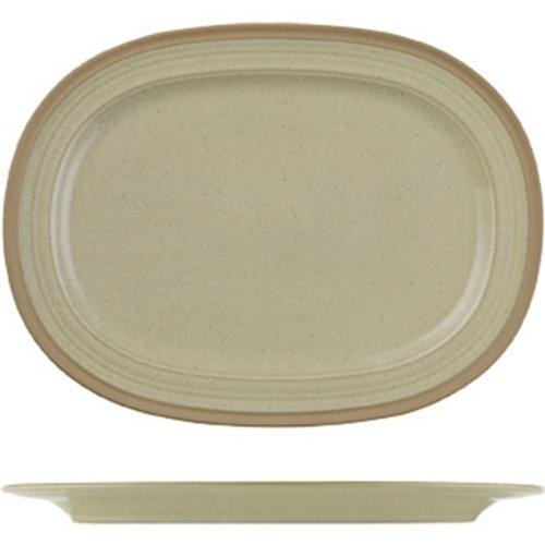 Churchill Art de cuisine Ce036 Ignée en grès ovale plate (lot de 6)