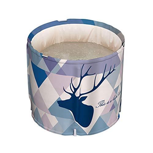 Bañera portátil, bañera de remojo independiente plegable, baño de hielo no inflable, espuma de aislamiento gruesa para mantener la temperatura