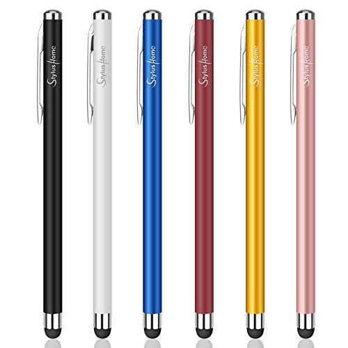 Stylus Pens for Touch Screens, StylusHome 6 Pack High Precision Capacitive Stylus for iPad iPhone Tablets Samsung Galaxy All Universal Touch Screen Devices