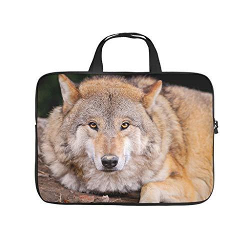Wolf Animal - Funda protectora para portátil (resistente a los golpes, para el trabajo, el negocio)