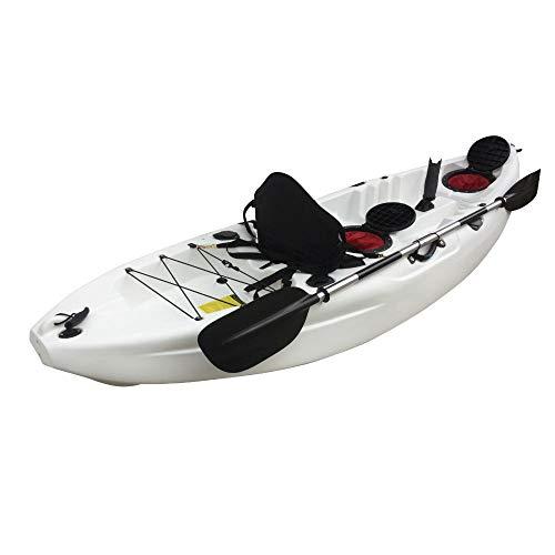 Cambridge Kayaks ES, Zander Blanco Solo Kayak DE Pesca Y Paseo, RIGIDO,