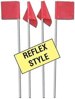 マーカーReflexサッカーコーナーフラグ4のセット