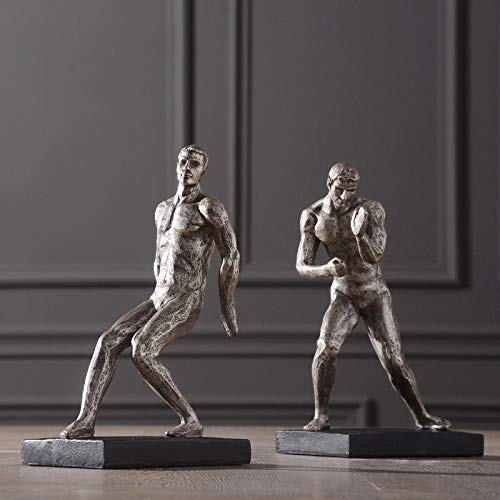 Figuritas Decorativas Estatua Esculturas De Cabeza Figuras Abstractas Creativas Empujando Estatua De Hombre Fuerte Artesanía Casera Objetos De Decoración De Habitación Figuras De Resina De Ofi
