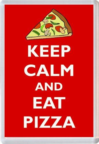 Keep Calm and Eat Pizza - Novelty Jumbo Fridge Magnet Gift/Souvenir/Present