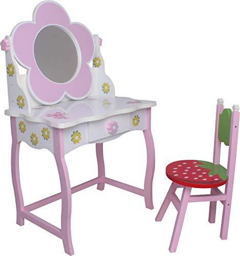 habeig Kinderschminktisch #264 Kindertisch SCHMINKTISCH Frisiertisch Hocker Prinzessin