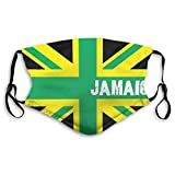 ETHAICO Fillter Face Cloth for Mens and Womens,Jamaica Jamaican Kingdom Flag,,Cold Mouth Dustproof Double Protection