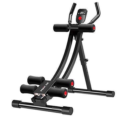 Fitness Equipment Ab und Back Trainer Glider Magen Muscle Shaper |Profi-Bauchmuskeltrainer |mit elektronischem Bildschirm| klappbar