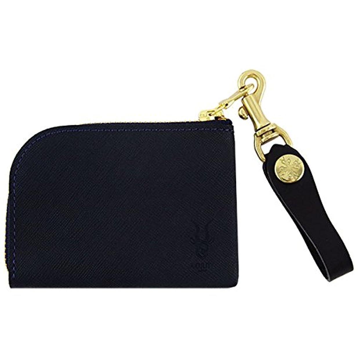 深遠弱まる通常アジリティ プレミオSG アルジャン L型財布 Agility 革のコインケース L字ファスナー 日本製 ネイビー