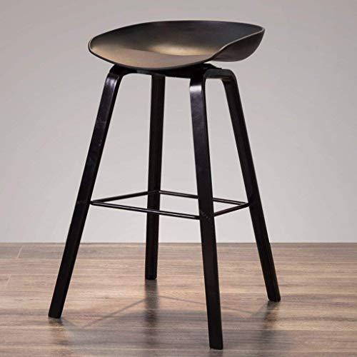 AXCJ Kleiner Sitz Nordic Style Minimalistische Barhocker Mode Kreative High-End Stühle Massivholz Barhocker,H