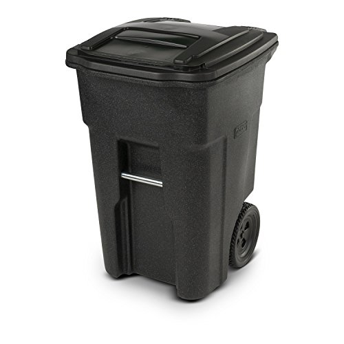 Toter Blackstone Trash Can with Wheels and Attached Lid, 48 Gallon
