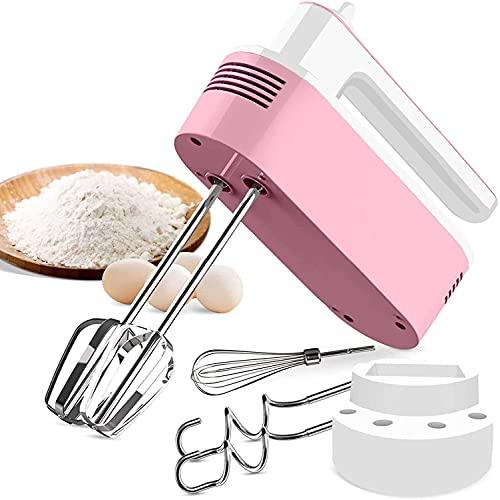 Batteur électrique pour gâteau, fouet électrique cuisine, 5 vitesses + fonction turbo + bouton déjection + 5 accessoires en acier inoxydable