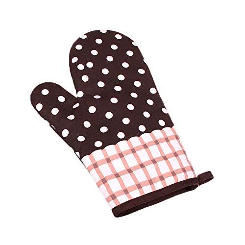 Vikenner Preziosi guanti antiscivolo Guanti da forno ad alta temperatura con forno antiscivolo addensato Colore 5