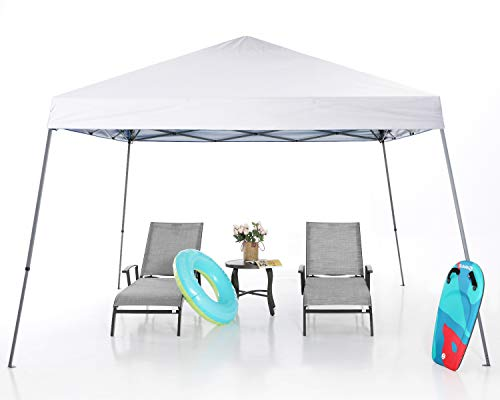 MASTERCANOPY Pop Up Canopy Tent,Outdoor Portable Canopy,Beach Canopy with Wheel Bag(8x8,White)