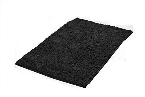 Ridder Soft badmat, tapijt, mat, polyester, zwart, ca. 55 x 85 cm.