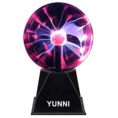 Red Electric Sensory Plasma Glass Sphere Lamp