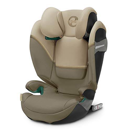 Cybex Gold Kinder-Autositz Solution S i-Fix, für Autos mit und ohne ISOFIX, Gruppe 2/3 (15-36 kg), ab ca. 3 bis ca. 12 Jahre, Classic Beige