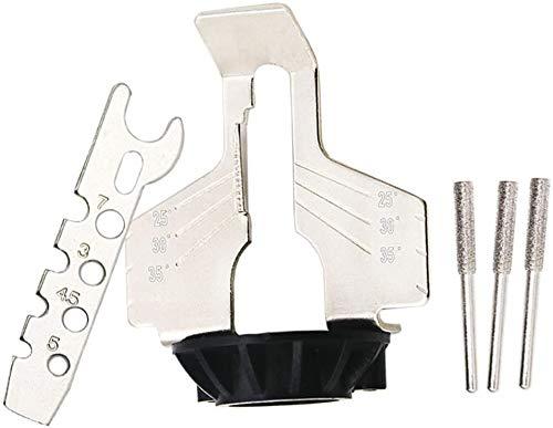 Qiuerte Kit de accesorios para afilar motosierra, herramienta rotativa, para afilar la cadena, afilar, guía de taladro, adaptador de cabeza