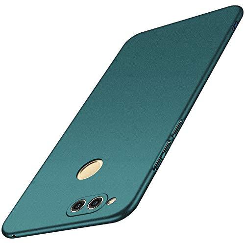 anccer Huawei Honor 7X Hülle, [Serie Matte] Elastische Schockabsorption & Ultra Thin Design für Honor 7X (Kies Grün)