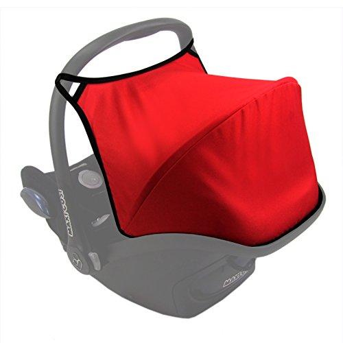 Babys-Dreams Sonnenverdeck UV50+ für Maxi-Cosi Cabriofix ** 3 FARBEN ** Sonnendach Babyschale Autositz Maxi Cosi (Rot)