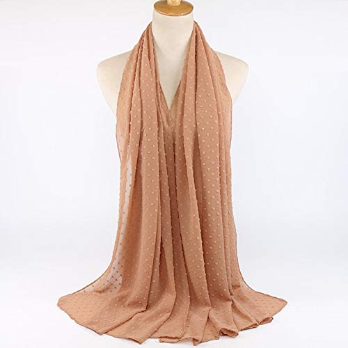 Bufanda Bufanda Hijab De Gasa De Burbujas para Mujer, Chal Largo, Diadema Musulmana, Bufandas Maxi Islámicas, 180 * 70 Cm, 180-70 Cm 20