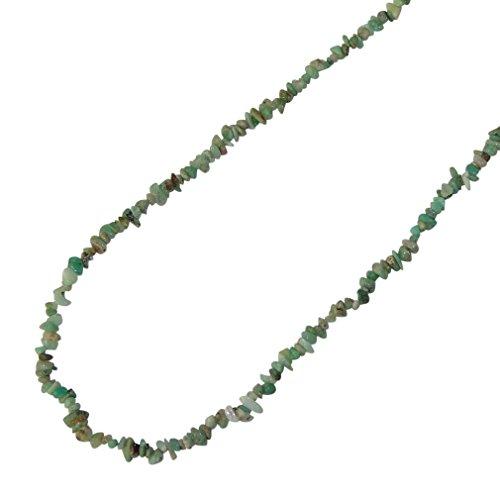 Preisvergleich Produktbild Chrysopras Splitter Kette schönes grün mit Einschlüssen Edelsteinkette 90 cm Länge ohne Verschluss.(3390)