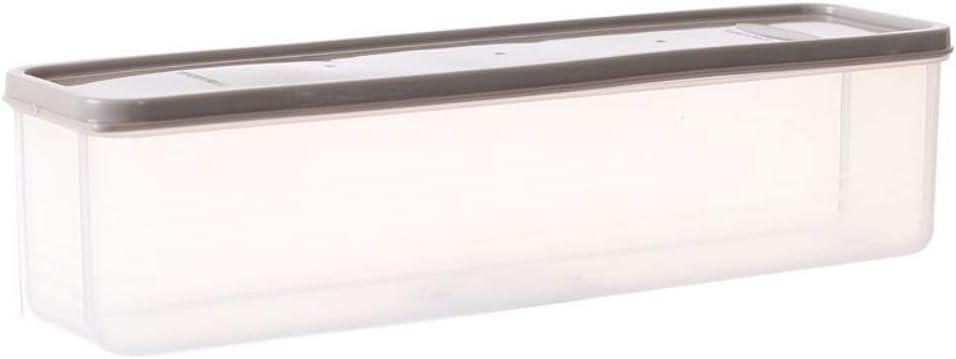 caja de almacenamiento de fideos de tira herm/ética de gran capacidad Shouhengda contenedor de pasta de pl/ástico Contenedores de pasta para fideos de espagueti 30 x 8.2 x 8 cm