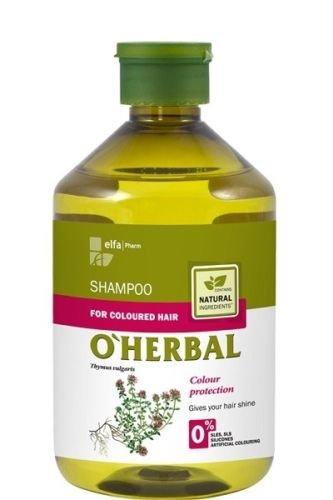 O'Herbal Champú Cabello/Pelo Teñido O Tintado Profesional Hidratante Natural Ecológico Sin Sulfatos Ni Siliconas Con Extracto De Tomillo O'Herbal 500Ml 500 ml