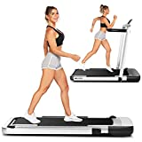 ANCHEER Folding Treadmills for Home,2 in 1 Under Desk Treadmill with Remote&APP Control,LED Display,Indoor Walking Jogging Running Exercise Machine Installation-Free