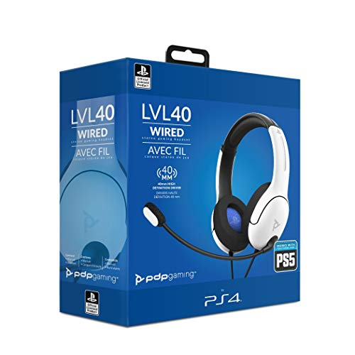 LVL40 Stereo Headset PS4 White