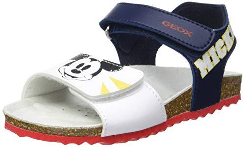 Geox B Sandal CHALKI Boy B152, Bimbo 0-24, Navy/White, 23 EU