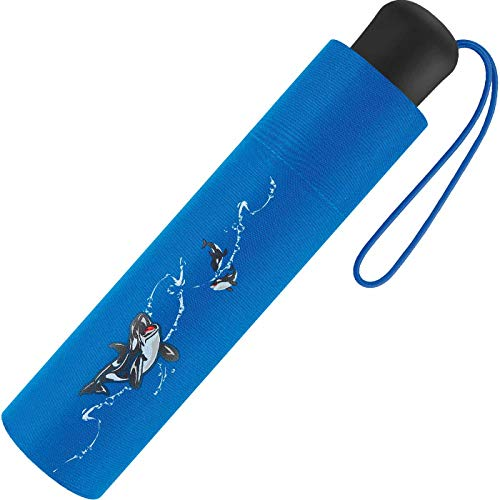 Scout Kinder Regenschirm Taschenschirm Schultaschenschirm mit großen Reflektionsflächen extra leicht Big Orca/Wal