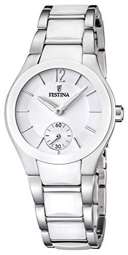 Festina Sra.Ace.ESF.Blanc. Reloj para Mujer Analógico de Cuarzo con Brazalete de Acero Inoxidable F16588/1