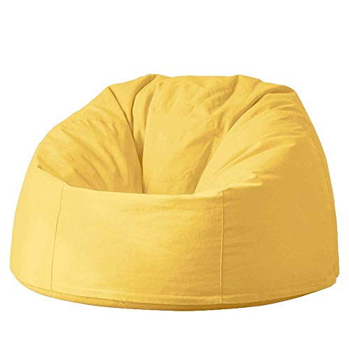 WK Lazy Sofa Sofa Sessel Bett for Pool Camping Im Freien Lazy Bag Wolke Couch Sitzsäcke for Erwachsene (Farbe: Rosa, Größe: S) lili (Color : Yellow, Size : Small)